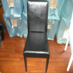 Siyah Ahşap Ayaklı Sandalye